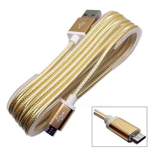 10 cabos carga micro usb v8 android reforçado nylon atacado