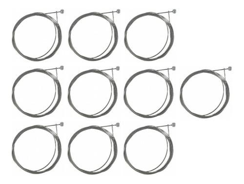 10 cabos de aço comum de 3 metros p/ freio dt/tr  bicicleta.
