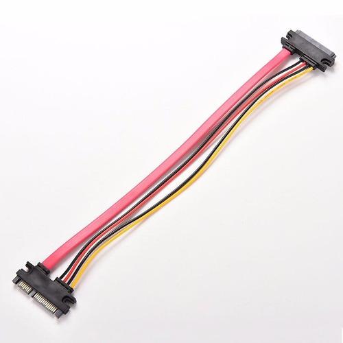 10 cabos  extensao sata 22 pin (7+15 pin) macho/femea  30cm