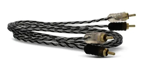 10 cabos rca taramps 1 metro 4mm preto branco som automotivo