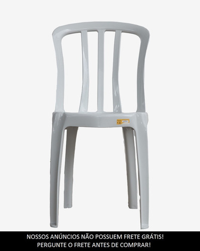 10 cadeiras plasticas bistrô rei do plastico / goyana 182kg