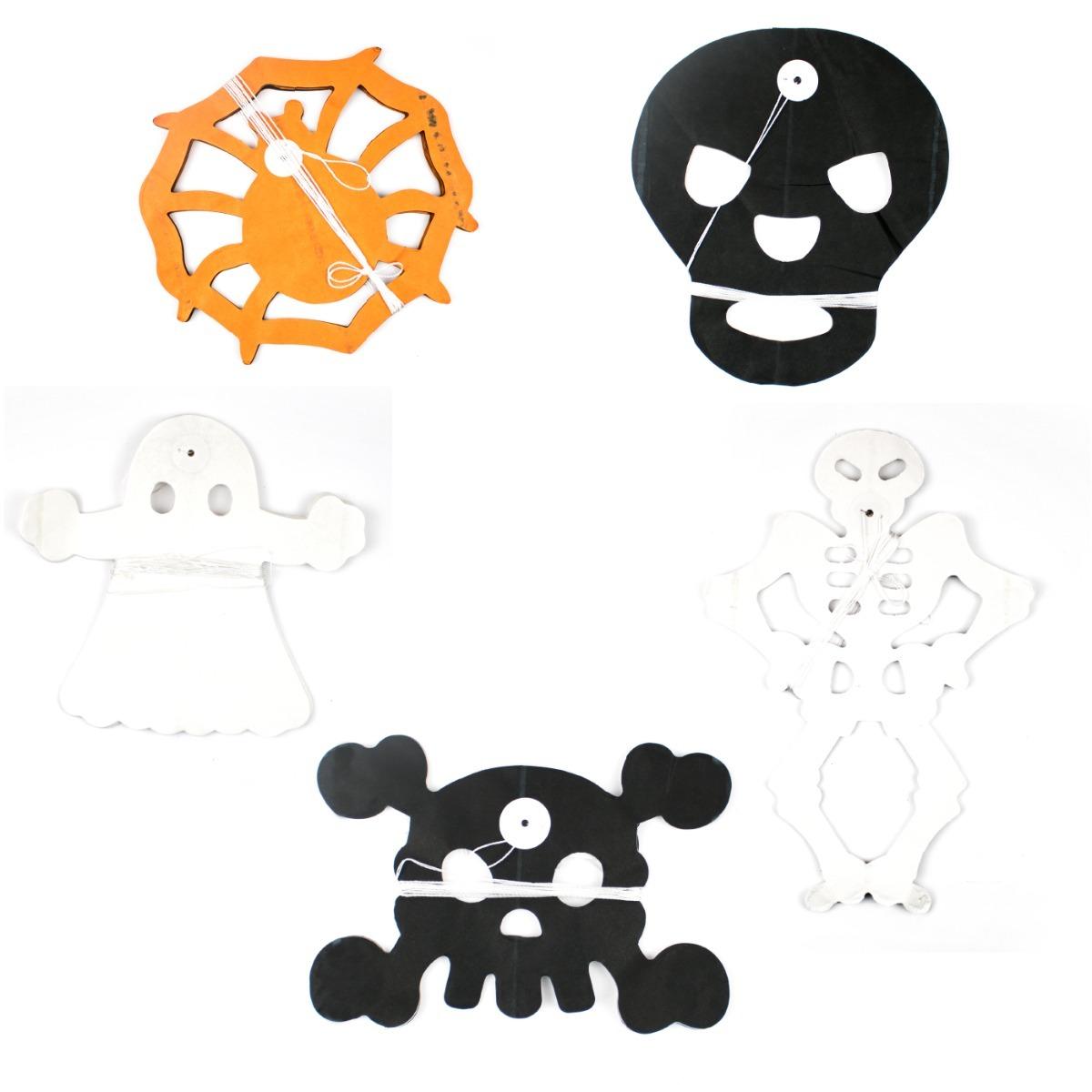 10 cadenas de papel picado decoracin halloween guirnalda - Adornos Halloween