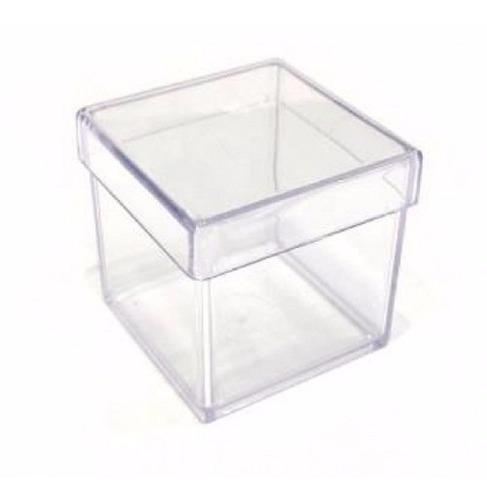 10 caixa acrilico transparente 5x5cm pronta entrega