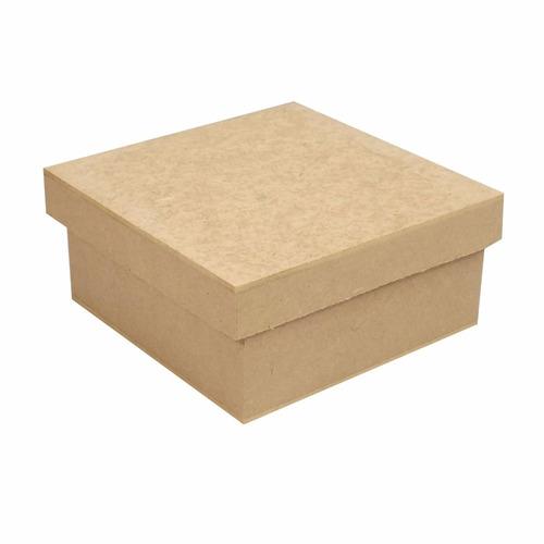 10 caixa caixinha 10x10x5 mdf crú lembrancinhas casamento
