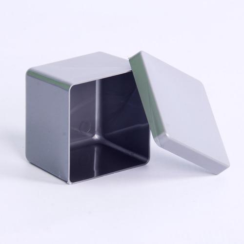 10 caixa caixinha prata 6x6 acrílico lembrancinha