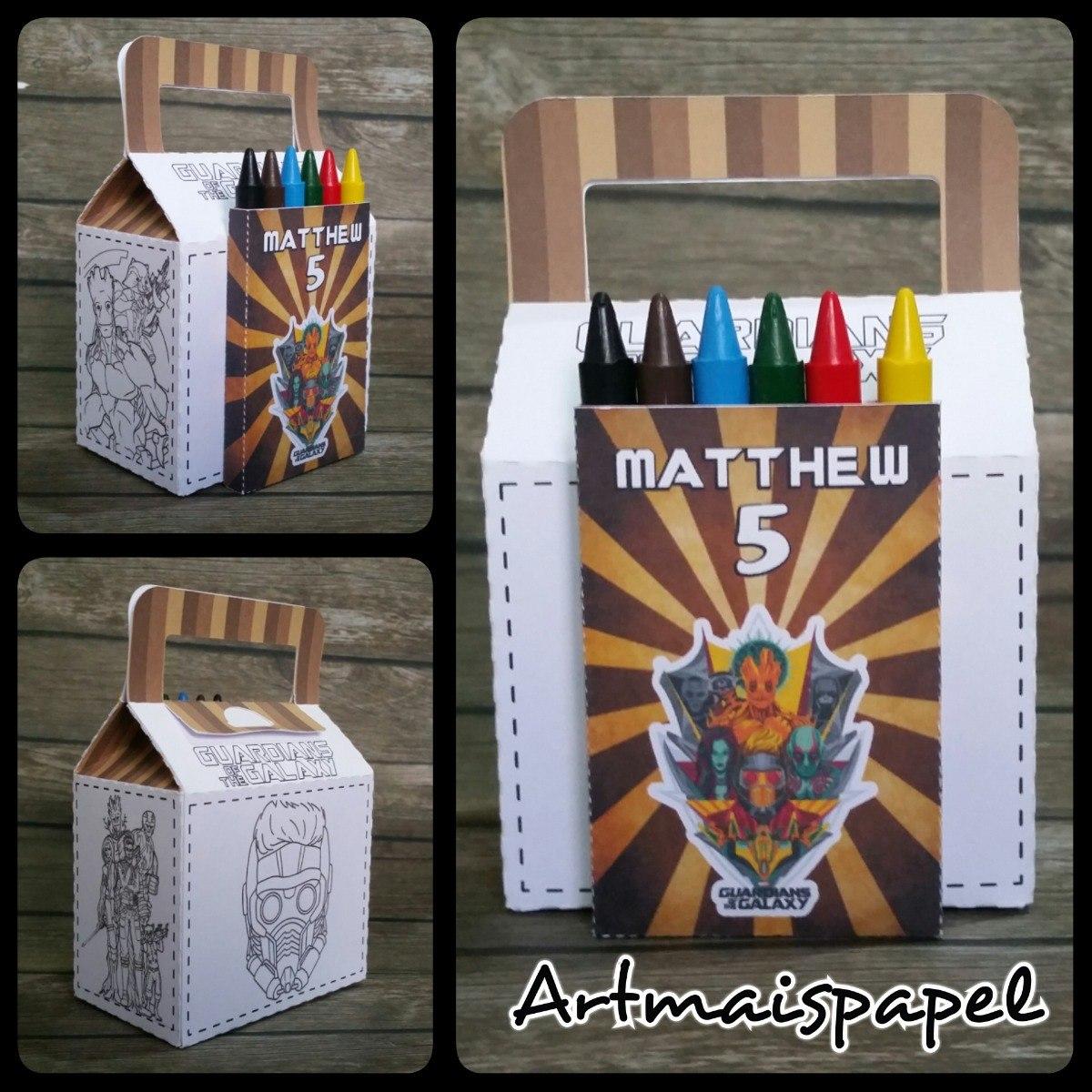 10 Caixa Colorir Guardioes Da Galaxia R 55 00 Em Mercado Livre
