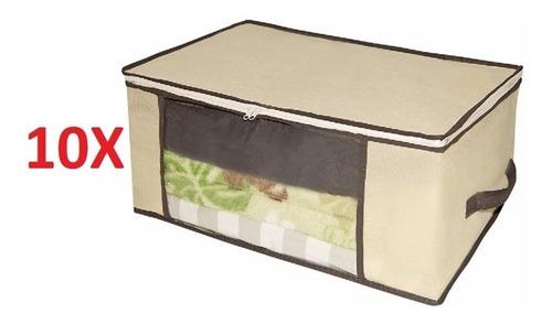 10 caixa organizador multiuso para guarda roupa closet ziper