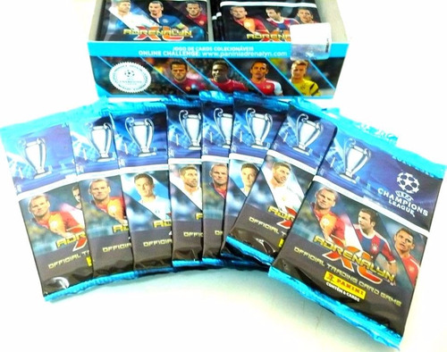10 caixas 24 envelopes cards champions league 14/15 panini