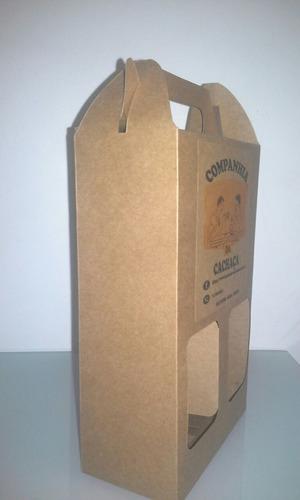 10 caixas em kraft 420 g para 2 garrafas de 250 ml tipo ice