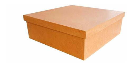 10 caixas lisas 20x20x5 mdf crú lembrancinhas casamento tsl