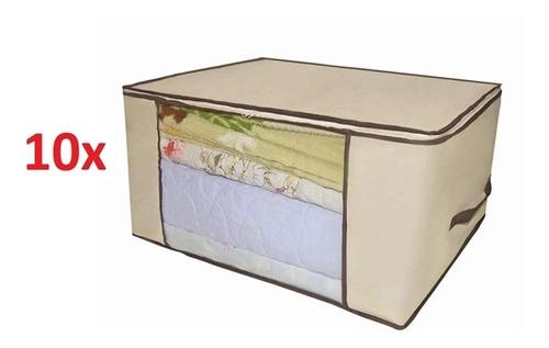 10 caixas organizador multiuso para guarda roupa e closets