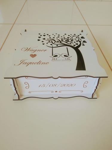 10 caixas personalizada casamento mdf