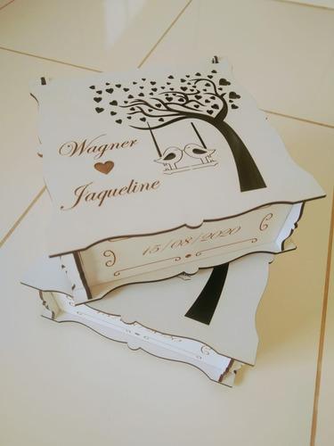 10 caixas personalizada casamento mdf - oferta