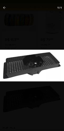 10 caixinha caixa luz teto suporte para laje piso 25cm preto