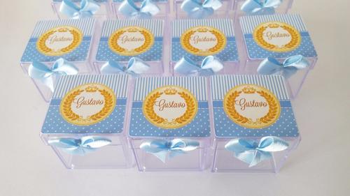 10 caixinhas acrilicas aplique 3d personalizado festa