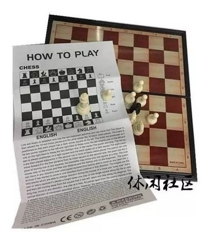 10 caja ajedrez magnetico tablero 25x25 cms regalo / 204007