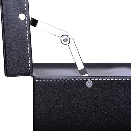 10 caja de reloj reloj vista organizador con joyas vitrina d