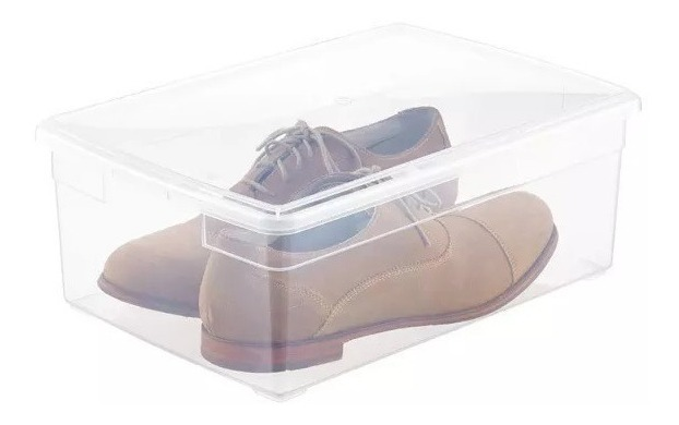 Multiusos 10 10 Caja Zapatos Transparente qL5R3jc4AS