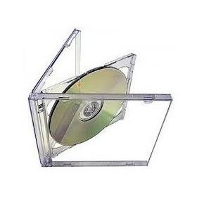10 Cajas 2cd/dvd Doble Simple Bandeja Transparente O Negra