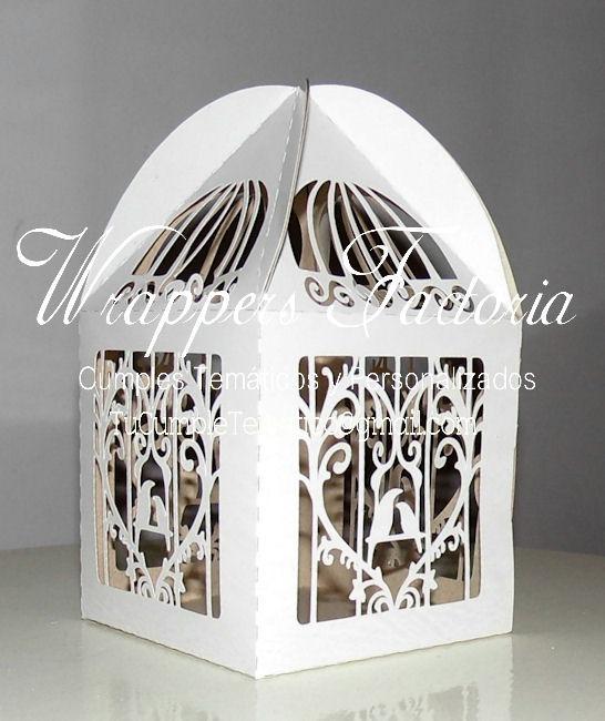 cajas caladas en papel para decorar tu boda xv y mas