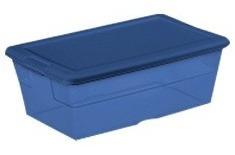 10 cajas/ contenedores  multiusos  5.7l azul 34.6x21x12.4 cm