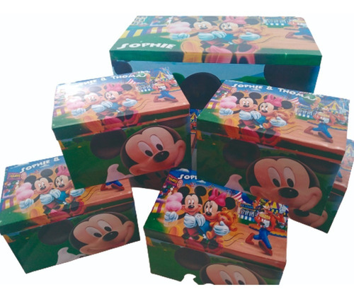 10 cajas de madera  para sorpresitas premium