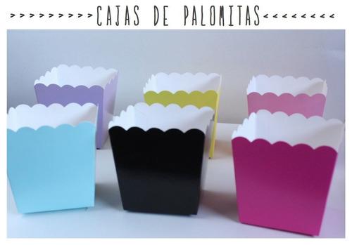 10 cajas de palomitas colores dulceros mesa de dulces bodas