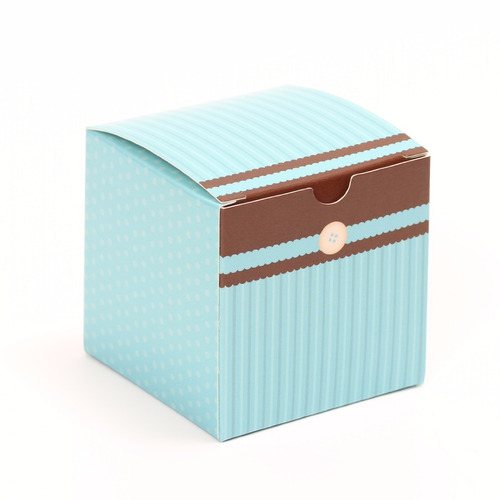 10 cajas de regalo para mini ponquecito cupcake chocoblu