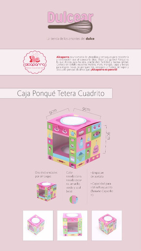 10 cajas de regalos para 1 ponquecito cupcake tetera ale