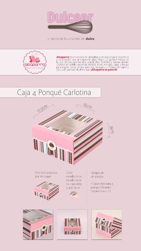 10 cajas de regalos para 4 ponquecitos cupcake carlotina