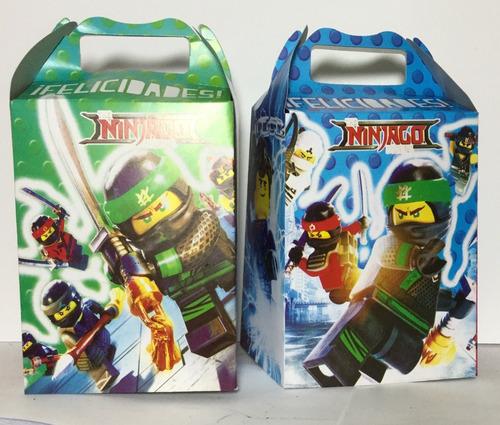 10 cajas dulceras ninjago fiesta bolo recuerdo