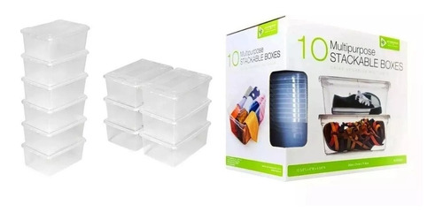 10 cajas plasticas para almacenar articulos multiusos oferta