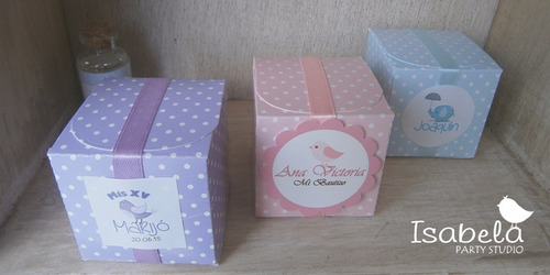 10 cajitas cubo para mesa de dulces recuerdos bodas xv años