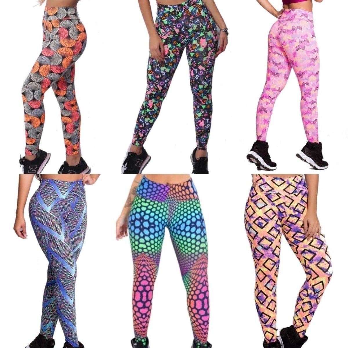 df52479c0 10 calças legging cós alto moda fitness feminina atacado rev. Carregando  zoom.