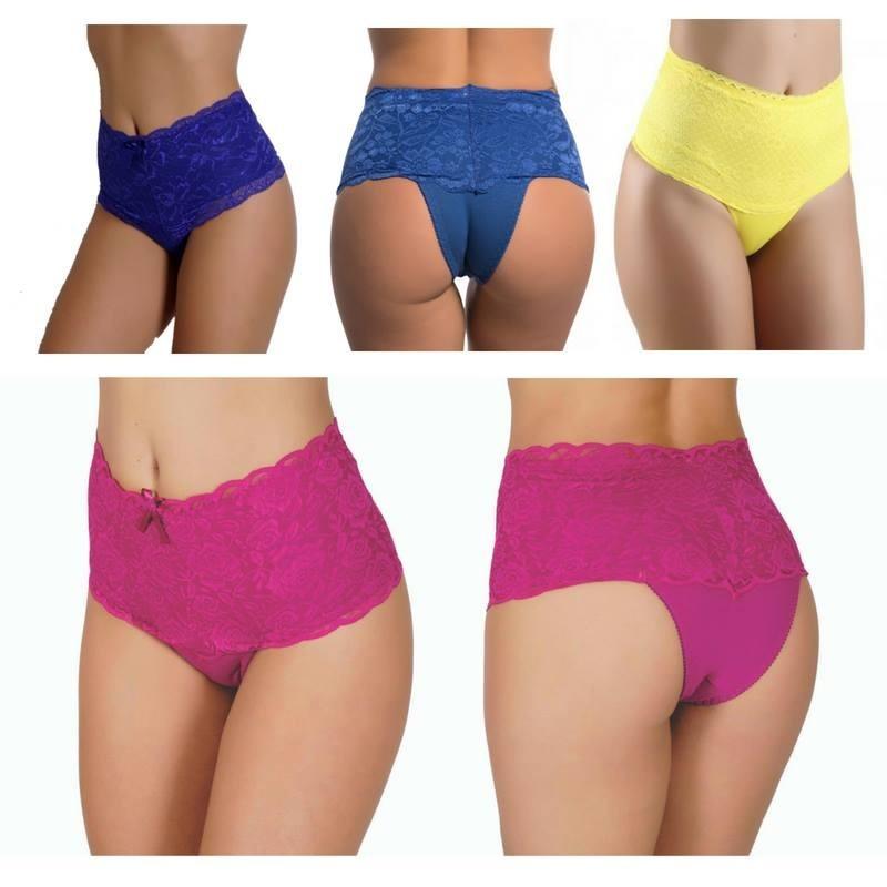 616de233fc 10 calcinha cinta cintura alta renda luxo lingerie atacado. Carregando zoom.