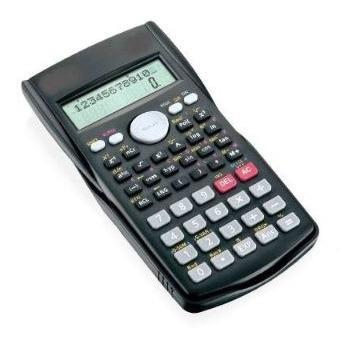 10 calculadoras com capa idea eletrônica cientifica preta .