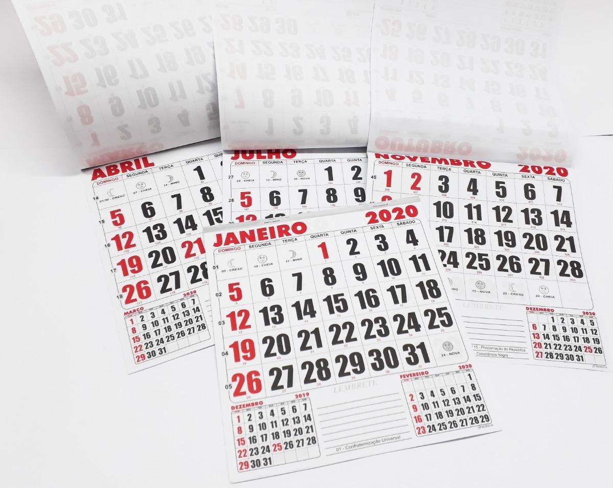 c0b30e3b5 10 calendários folhinha de parede 2020 números grandes luas. Carregando  zoom.