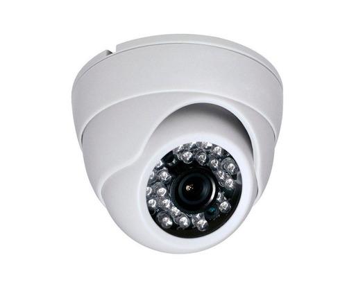 10 cameras dome ccd infra vermelho 24 leds 20mts linha 3,6mm