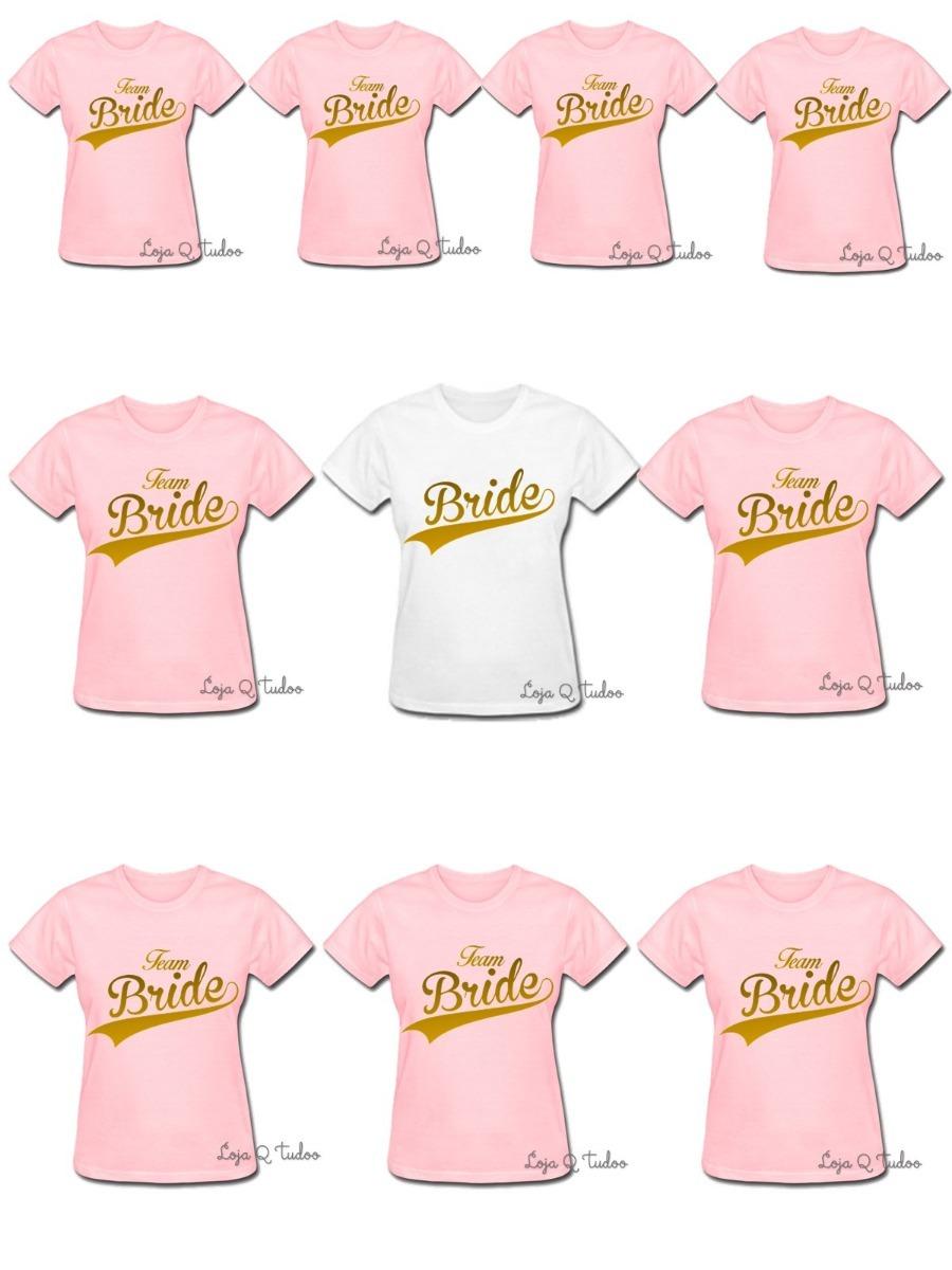 d83307520e 10 camisa baby look despedida solteira madrinha team bride 2. Carregando  zoom.