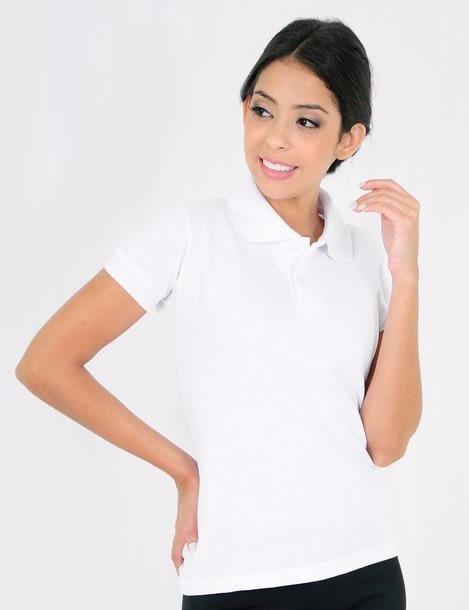 679c97beb5 10 Camisa Polo Lisa Branca Baby Look Algodão E Poliéster - R  200