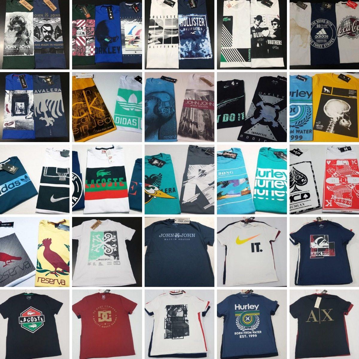10 camisas estampadas premium marcas famosas atacado revenda. Carregando  zoom. 8b9390c09d
