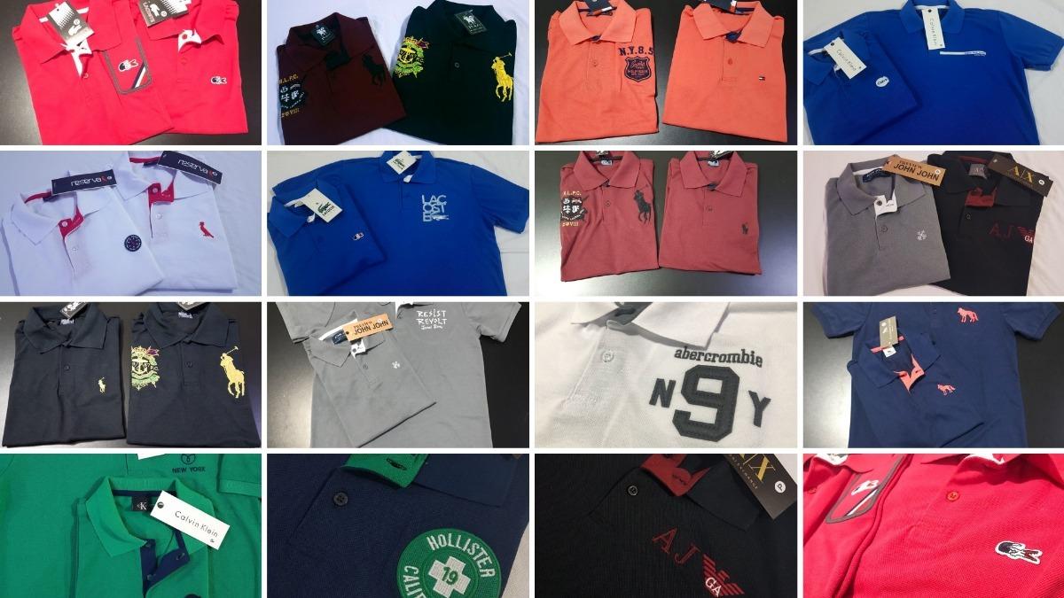 10 camisas polo luxo marcas famosas atacado revenda barato. Carregando zoom. 502fcc3f33057