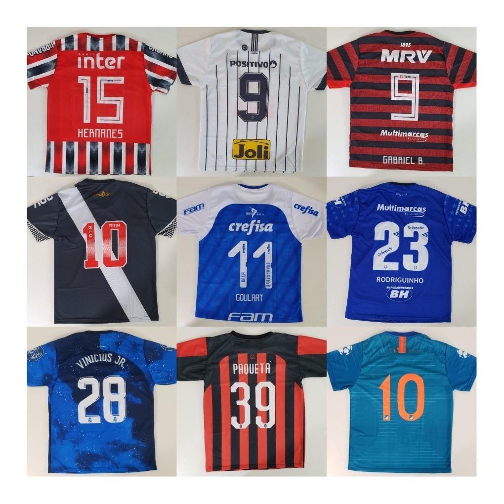 833def16eb 10 camisas time futebol brasileiros e europeus raynstore®. Carregando zoom.