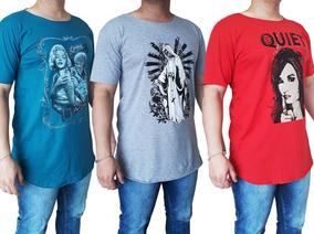 742248658c 10 Camiseta Camisa Oversized Lon Gline Blusa Masculina Swag