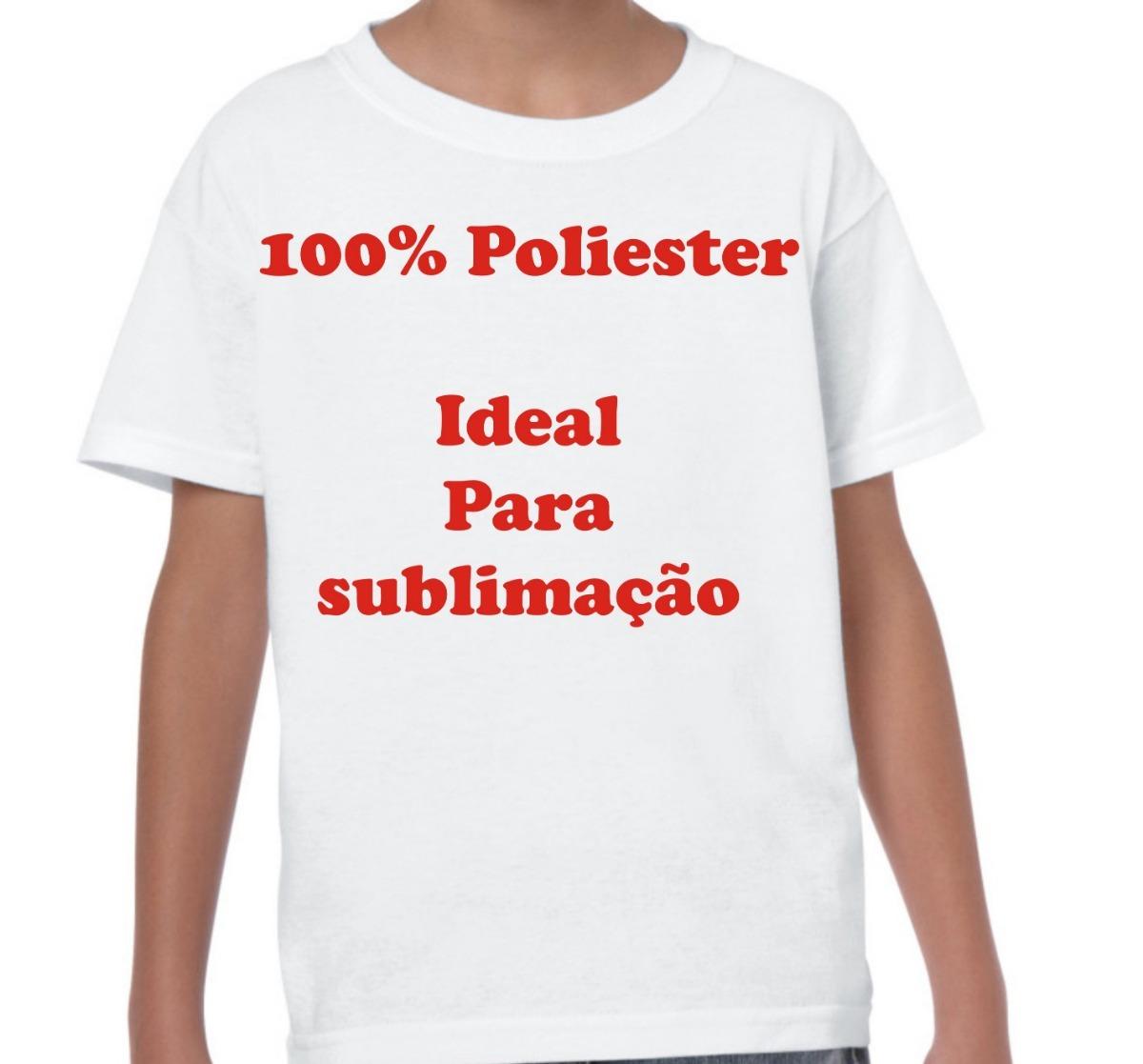 4d39324515ed2 10 Camiseta Juvenil 100% Poliéster Golav Sublimação Atacado - R  69 ...
