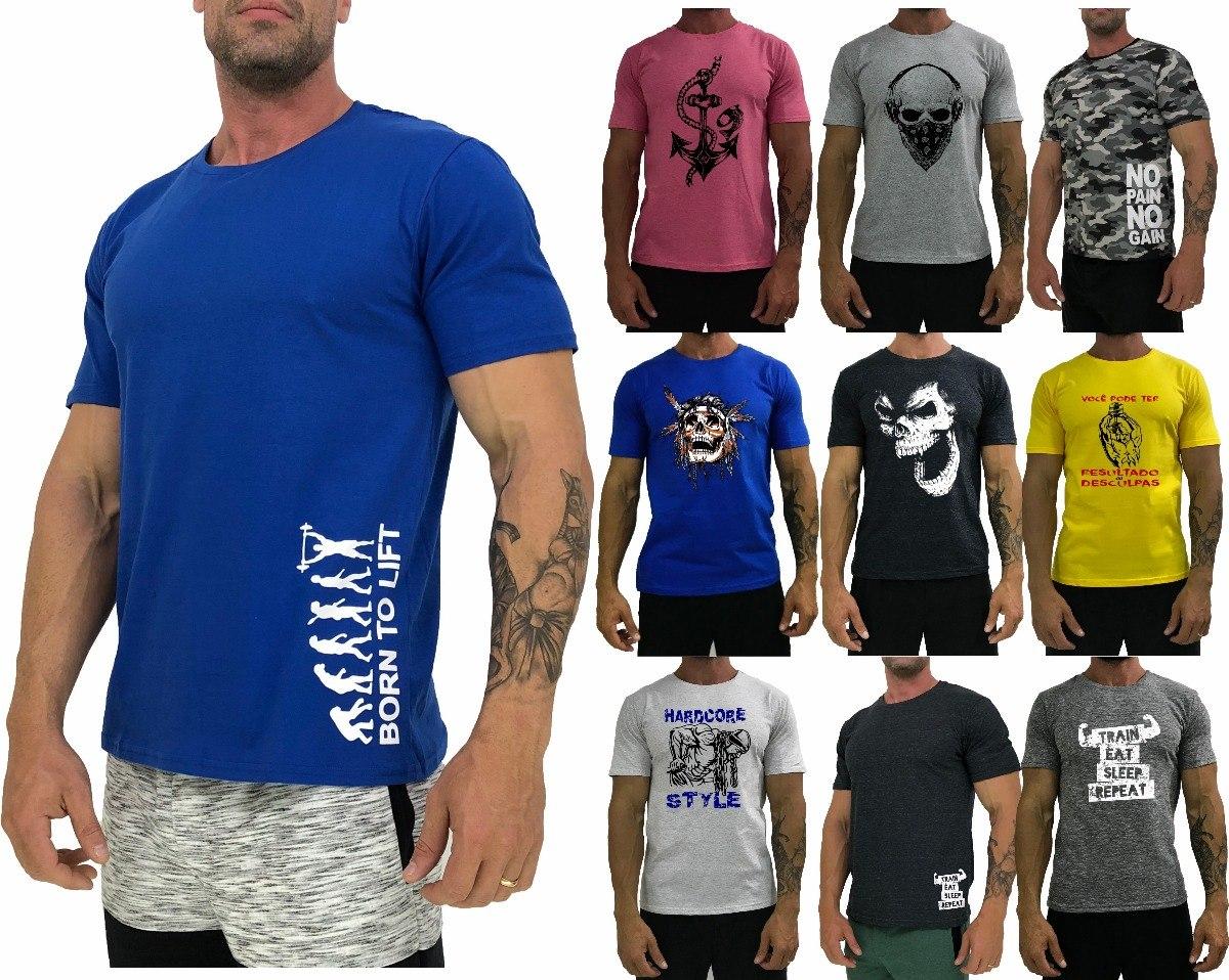 4eb0edd724 10 camiseta masculina t-shirt camisa blusa treino manga curt. Carregando  zoom.