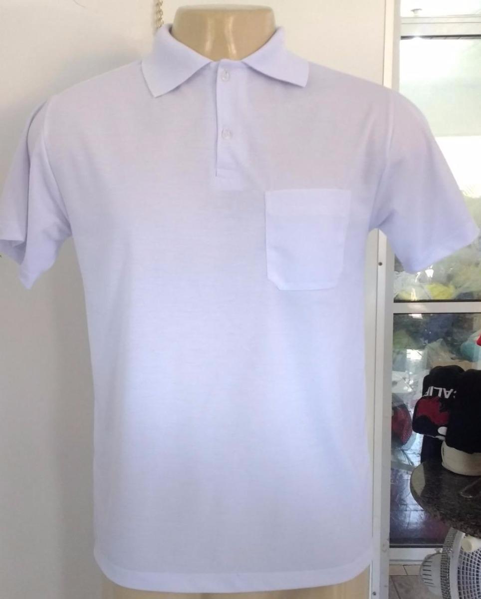 9677778ef 10 camiseta polo sublimação 100% poliéster branca frete grát. Carregando  zoom.