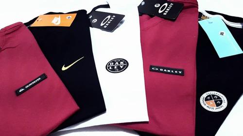 10 camisetas bordadas masculina camisa blusa revenda atacado