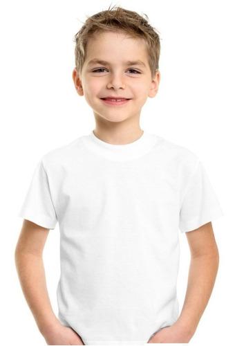 10 camisetas branca para sublimação infantil 100%poliester