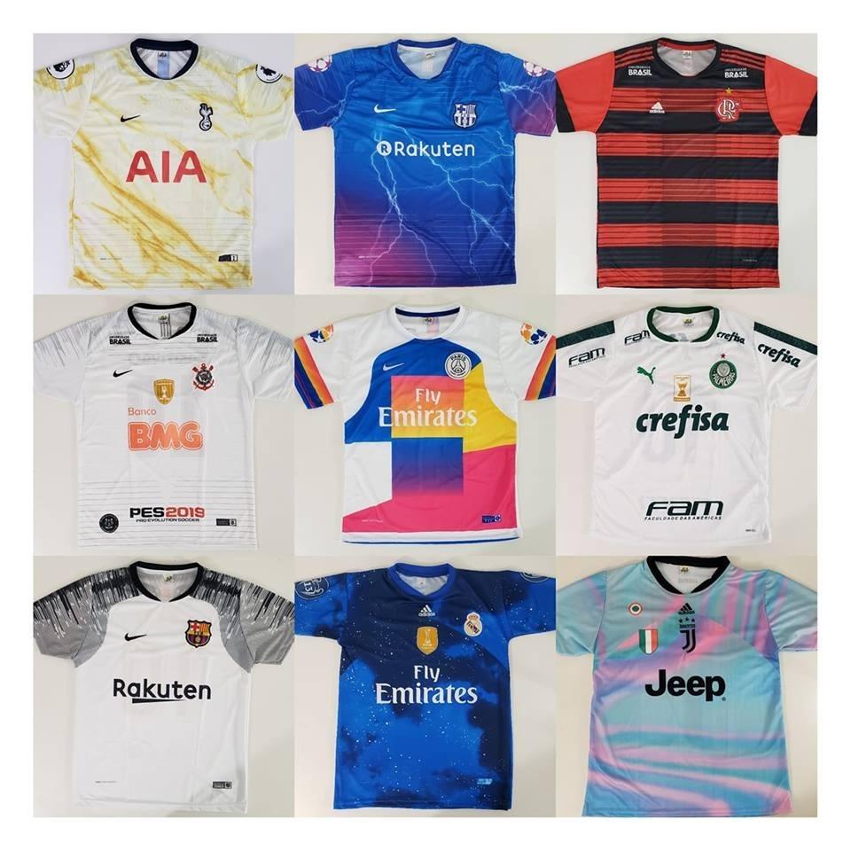 226f70bd9 10 Camisetas De Time Atacado Camisas De Futebol Raynstore® - R  194 ...